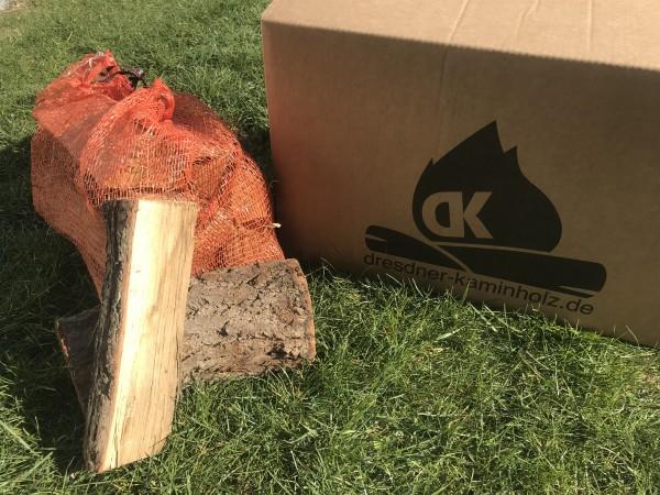 1 Box (30kg) Kaminholz Esche trocken (kammergetrocknet) 29cm