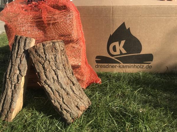 1 Box (30kg) Kaminholz Eiche trocken (kammergetrocknet) 29cm