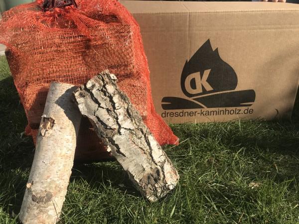 1 Box (30kg) Kaminholz Birke trocken (kammergetrocknet) 29cm