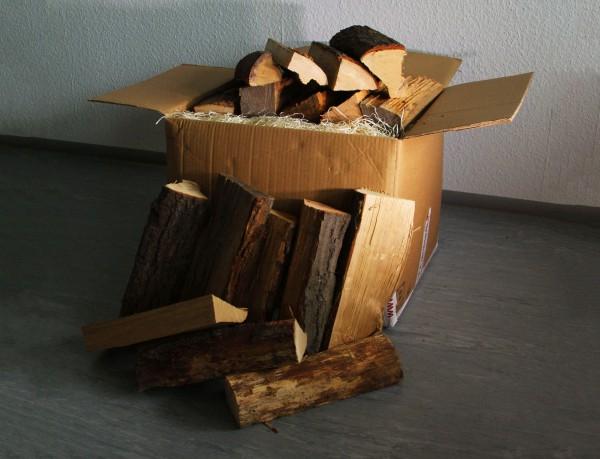 1 Box Kaminholz Eiche trocken 29cm, 30kg